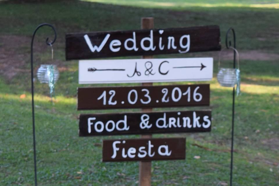 Indicacion de boda