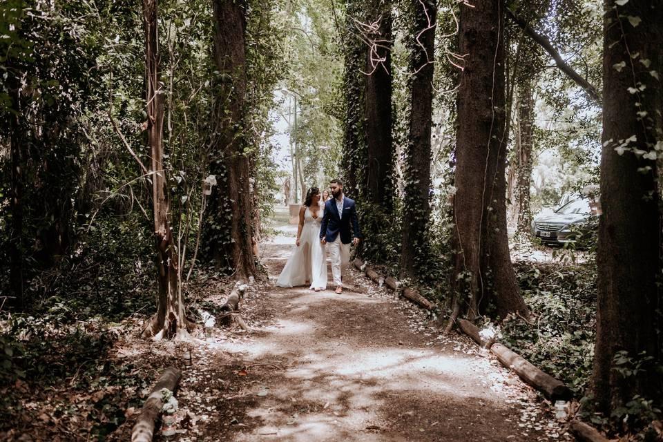 Ceremonia en bosque