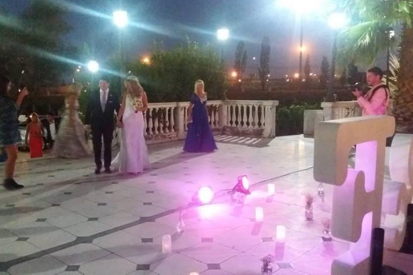 Letra gigante boda casamiento