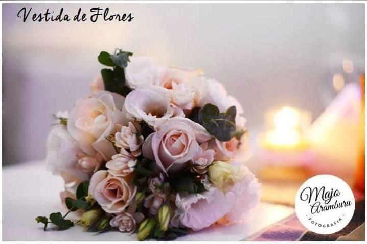 Ramo de novia con eucaliptos