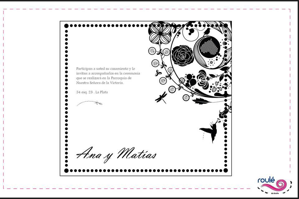 Gráfica para casamientos