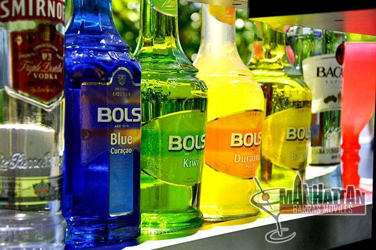 Bebidas utilizadas