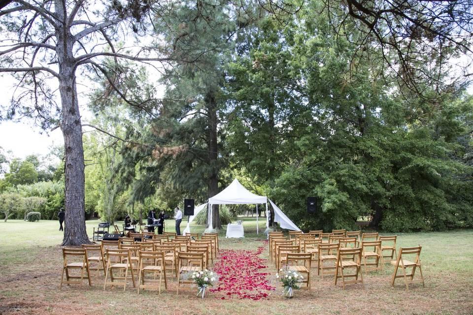 Lugar para la ceremonia
