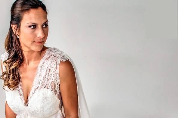 Vestido de novia modelo griego