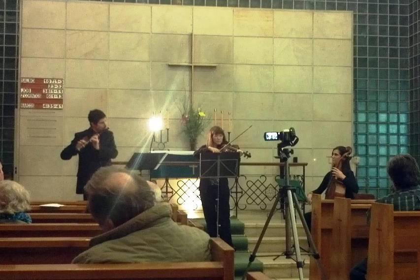 Trío flauta, violín y cello