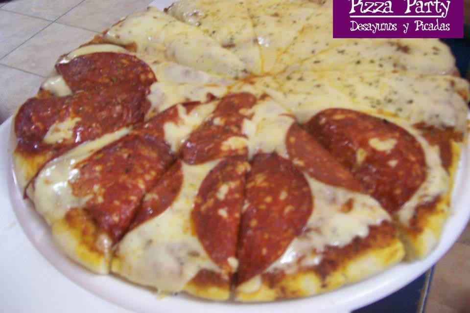 Pizza cantinpalo y clásica