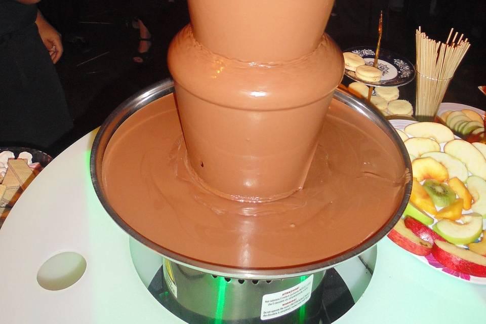 Cascada de chocolate con leche