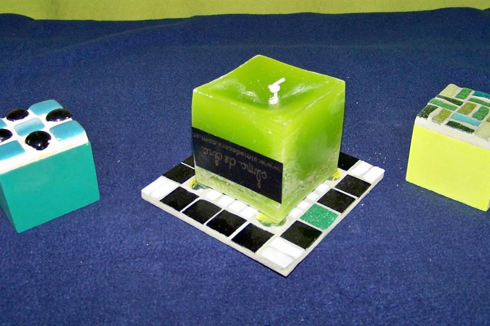 Posavelas, vasos, mini cajas
