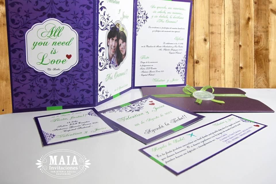 Invitaciones Maia