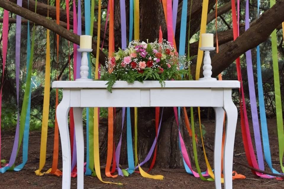 Altar colorido