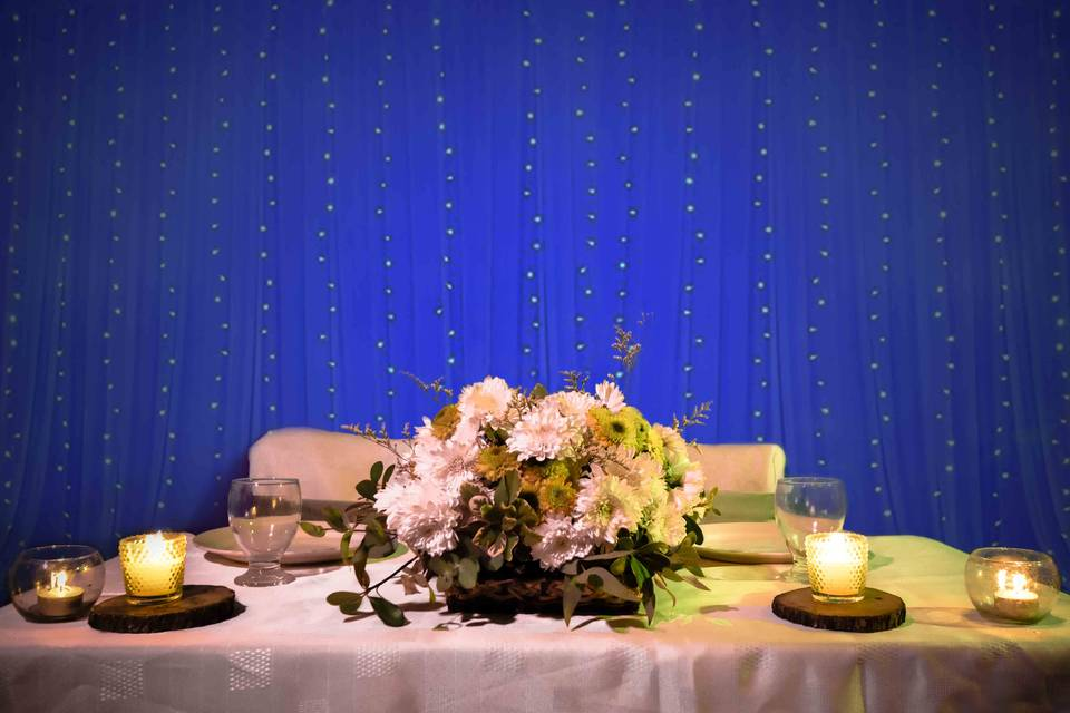 Mesa prnicipal con backdrop