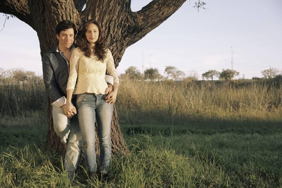 María y David