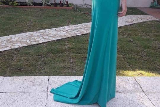 Vestido fiesta turquesa