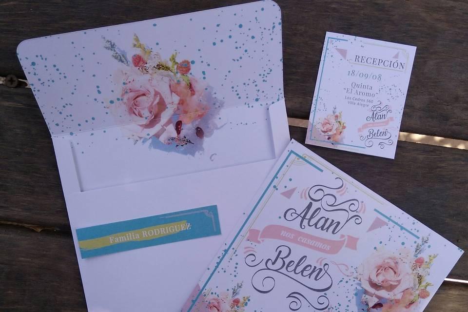 Kit casamiento Alan & Belén