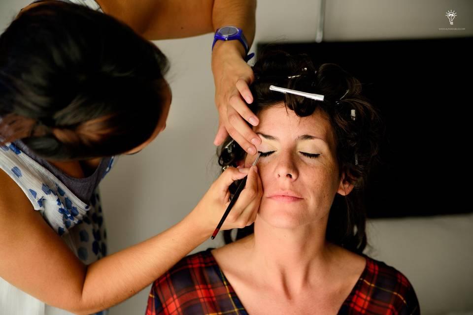 Make up y peinado para Barbi